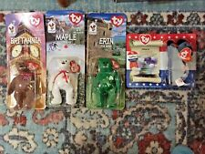 MC DONALD BEARS 4 ty ERIN MAPLE BRITTANIA LEFTY SEALED BEARS 1 DONKEY  1999-2000