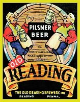 11x14 Old Reading Brewery Poster PHOTO Beer Liquor Pub Bar Tavern Saloon