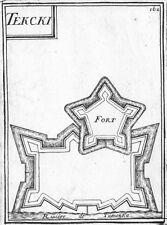 RUSSIA. Tekcki; Riviere de Tumenka 1683 old antique vintage print picture