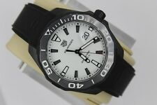 NEW Tag Heuer Aquaracer Watch Mens WAY108A.FT6141 NWOT Black PVD Rubber Mint