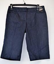NY&C 7th AVENUE NWT Women's Blue Stretch Bermuda Short Size 2 (D5)