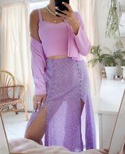 ZARA Pink Top & Buttoned Cardigan Knit Set Size M