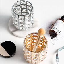 CRYSTAL MAKE UP BRUSH STORAGE BUCKET PENS/PENCILS HOLDER DESKTOP ORGANIZER DECOR