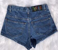 Vintage Bolero Womens High Waisted Shorts Size 7 M Mom Blue Denim Jean Wash