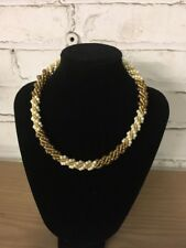 Gold Tone Amber Pearl Colored Beads Fine Fashion Beautiful Necklace