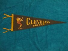 1940's CLEVELAND BROWNS PENNANT 3/4 SIZE *VERY RARE* VINTAGE