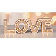 """LED-Deko Leucht-Dekoration Schriftzug Dekoleuchte """"LOVE"""" mit 24 warm-weißen LEDs"""