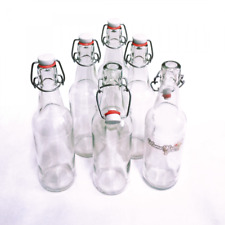 Swing Top Glass Beer Cider Bottles Home Brew Making 6 Pack 500ml Grolsch Style
