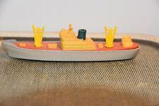 """Tootsie Toy Cargo Ship Die Cast Boat Wheels 5"""" Vintage"""