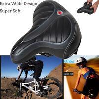 Extra Wide Big Bum Bike Bicycle Cycling Gel Cruiser Pad Saddle Seat Soft Comfort
