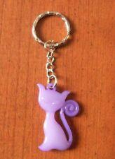 porte clés chat violet
