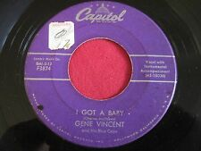 ROCKABILLY 45 - GENE VINCENT - I GOT A BABY / WALKIN HOME FROM - CAPITOL 3874