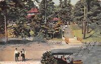 Marion Indiana~Matter Park Scene~Men Leave Vintage Auto~Shelter House~1909 PC