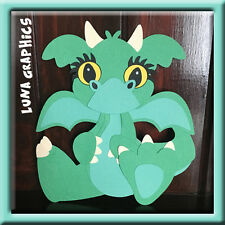 GREEN DRAGON  Embellishment Paper Piecing card making and scrapbooking