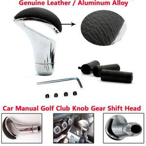 Car Leather gear Gaitor Boot Manual Stick Shifter Lever Gear Shift Knob Head