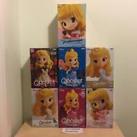 Range Of Official Disney Aurora Q Posket Sleeping Beauty Figurines Banpresto NEW