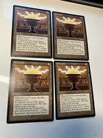 4x MTG sol grail Alliances Magic the Gathering 1995 Vintage OLD