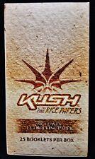 Full Box 25 Packs KUSH Ultra Fine Rice Paper 1 1/4 Cigarette Rolling Papers
