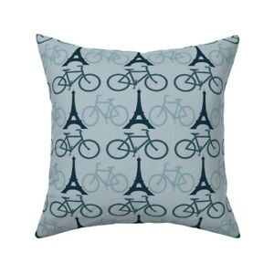 Paris France Tower Eifel Tower Throw Pillow Cover w Optional Insert by Roostery
