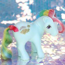 Vintage My Little Pony SUNLIGHT Aqua Rainbow Gold Silver Clouds G1 MLP BH886