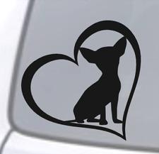 CHIHUAHUA HEART Vinyl Decal Sticker Car Window Wall Bumper Dog Puppy Love Cute