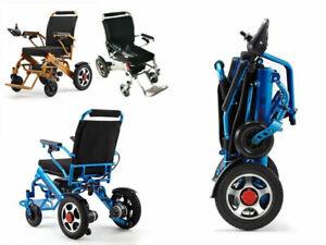 2021 Portable Folding Electric Wheelchair Wheel chair Lightweight Aid Foldable