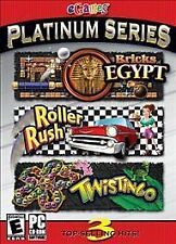 Video Game PC Platinum Series Bricks Egypt Roller Rush Twistingo SEALED BOX