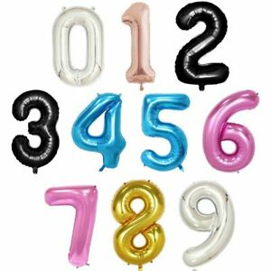 Number Balloons Foil Ballon Wedding Party Birthday Decor Baby Shower 16 40 Inch