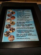 The Freestylers Don't Stop Rare Original Radio Promo Poster Ad Framed!