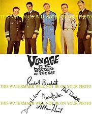 VOYAGE TO THE BOTTOM OF THE SEA CAST SIGNED AUTOGRAPHED 8x10 RP PHOTO HEDISON +