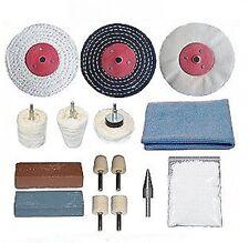 15 Piece Aluminium and Brass Metal Polishing Kit