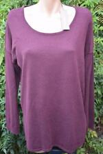 SUSSAN Plum Pink TOP SIZE L Stylish Rounded Hem NEW RRP $79.95 Long Sleeve