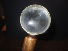 Mw.A295: Vintage Classical Magnifying Glass On Top Of Ash Walking Stick Cane