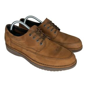 Rockport Northfield Vibram Mens Size 9.5 Tan Oxford Leather Outdoor Shoes