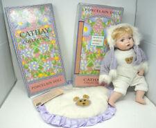 "Vintage 16"" Porcelain Bradley Baby Doll blonde hair"
