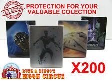 200x 4K UHD STEELBOOK - NO J-CARD SIZE - CLEAR PROTECTIVE BOX PROTECTOR SLEEVE