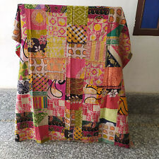 Indian Patchwork Bedding Quilts Twin Deccorative Kantha Bedspread Coverlet Quilt
