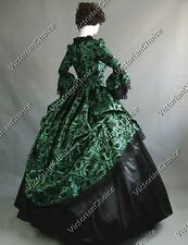 Renaissance Victorian Floral Brocade Gown Dress Theater Steampunk Wear N 143 L
