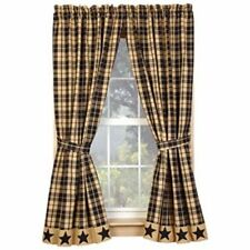 Plaid Rustic/Primitive Curtains, Drapes & Valances | eBay
