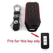 Leather Key Holder For Mitsubishi Outlander Lancer ASX Galant Smart Remote Shell