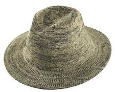 D&Y Men's Marled Knit Panama Hat Khaki