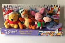 Disney Fisher Price Winnie the Pooh Holiday Beans Plush Toys brand new christmas