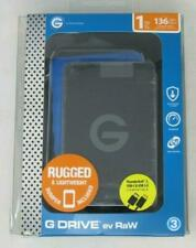New! G-Technology G-DRIVE EV RAW 1TB USB 3.0 (0G04101) Hard Drive