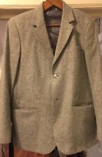 2016 AGNES B Homme Gray Men's Light Sports Coat Jacket Sz 52 EU Made in France
