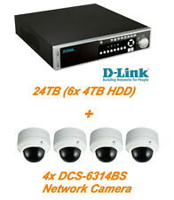 €2454+IVA D-LINK DNR-2060-08P NVR Rack PoE+ 24TB + 4x DCS-6314BS Network Cameras