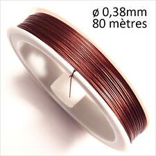 Wired Wire Steel Wrapped Nylon 0,38mm – 80m Brown for jewelery creation