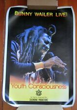 New ListingReggae-Bunny Wailer Live Youth Consciouness 1983 Solomonic Poster M-