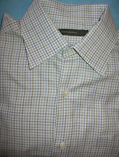 Ermenegildo Zegna white check dress shirt  made in Italy16 - 16 1/4  x 36  (S13)