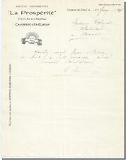Carta - Postal- La Prosperidad sociedad cooperativa en Caudebec los Elbeuf 1922