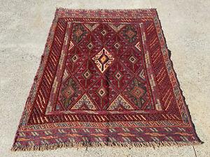 Floor Rug Handmade Mashwani (115 x 91 cm) 100% Wool Kilim Room Rug Area Rug
